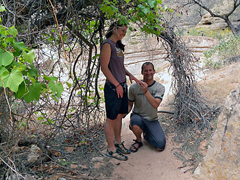 Kevin proposing to Kathleen